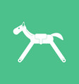 icon on background rocking horse vector image