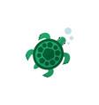 isolated turtle flat icon tortoise element vector image