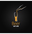 beer glass design menu background vector image