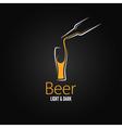 beer glass design menu background vector image vector image