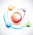 atom structure abstract glossy icon vector image vector image