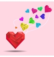 Abstract Valentine Heart Gem vector image