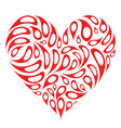heart shape design vector image vector image