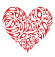 heart shape design vector image