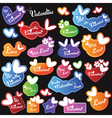 Valentine heart labels with text vector image