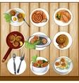 Escargots gastronomy set vector image