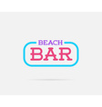 Neon Bar Sign can be used as Logo or Icon vector image