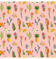 Tropical Background Parrot Bird Cactus Background vector image
