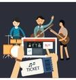 buy music concert ticket online mobile internet vector image