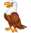 Cartoon eagle posing isolated on white background vector image