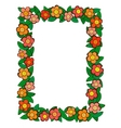 cartoon flower frame vector image