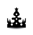 Crown Isolated On White Background vector image