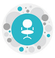 of job symbol on office chair vector image