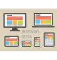 responsive web design Flat style vector image