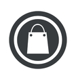 Round black shopping bag sign vector image