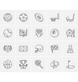 Sport sketch icon set vector image