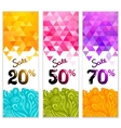 Triangle Sale banners with doodles vector image