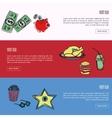 Visit USA Touristic Web Banners vector image
