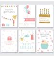 Birthday greeting and invitation card vector image