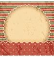 Christmas vintage paper background or frame Red vector image