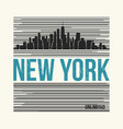 new york city t-shirt design vector image