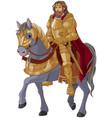 medieval king horseback vector image vector image