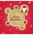 Retro Christmas Web Design Bubbles And Santa Claus vector image