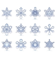 Glossy snowflakes vector image