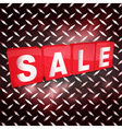 Red sale tabs over metallic diamond plaque vector image vector image