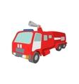Fire truck cartoon icon vector image