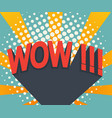 abstract wow comic book pop art background vector image