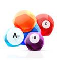 aqua glossy glass elements vector image