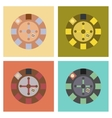 assembly flat icons poker roulette casino vector image