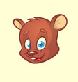 cartoon bear head vector image