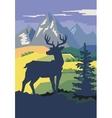 deer in forest vector image