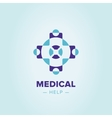 Medic cross logo template vector image