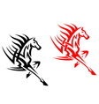 Tribal mustang stallion for mascot vector image