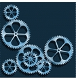 Technical background Abstract gear vector image