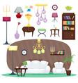 furniture room interior design home decor concept vector image