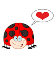 Cartoon ladybug vector image
