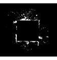 white frame on black vector image