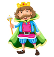 A king vector image vector image