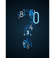 Question mark font from numbers vector image