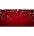 Snow red abstract background vector image