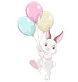 15 bunny balloons001 vector image vector image