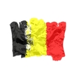 Belgian flag painted by brush hand paints Art vector image