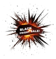 Black Friday sale red explosion star vector image