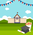 celebrations of graduation with background vector image