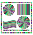 Colorful Frame and Circle vector image
