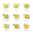 Datacenter Line Concept vector image